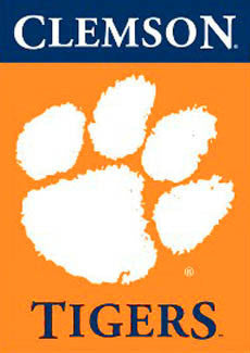 "Clemson Tigers ""Orange & Purple"" Wall Scroll - BSI Products"