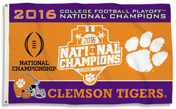 Clemson Tigers 2016 NCAA Football National Champions Official 3'x5' FLAG