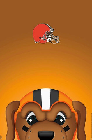 "Cleveland Browns ""Chomps Style"" NFL Theme Art Team Logo Poster - S. Preston/Trends Int'l."