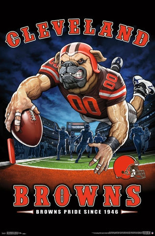 "Cleveland Browns ""Browns Pride Since 1946"" NFL Theme Art Poster - Liquid Blue/Trends Int'l."