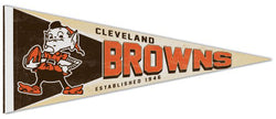 Cleveland Browns NFL Retro 1959-69-Style Premium Felt Collector's Pennant - Wincraft Inc.