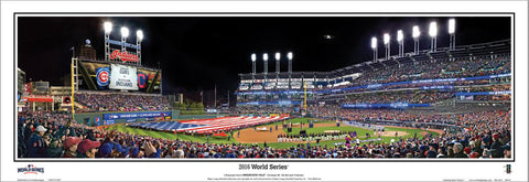Progressive Field Cleveland 2016 World Series Panoramic Poster Print - Everlasting
