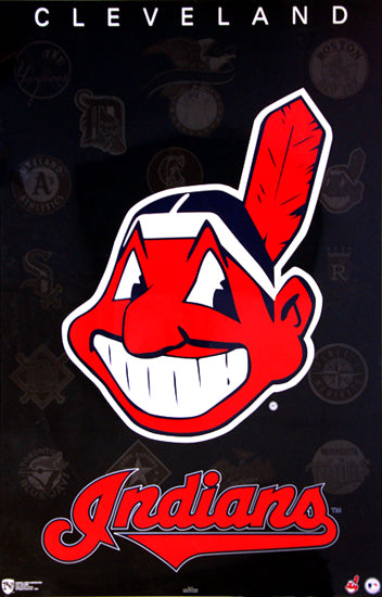 Cleveland Indians Chief Wahoo Classic Official MLB Team Logo Wall Poster - Norman James Inc.