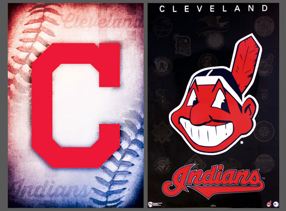 COMBO: Cleveland Indians Official MLB Team Logo 2-Poster Combo Set - Trends/Norman James