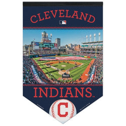 Cleveland Indians Official Progressive Field Gameday Premium Felt Collector's Banner - Wincraft