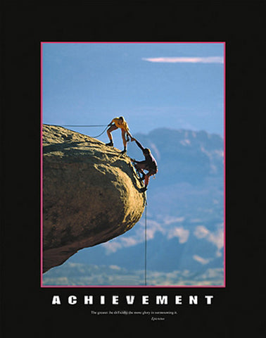 "Rock Climbing Duo ""Achievement"" Motivational Poster - Eurographics"