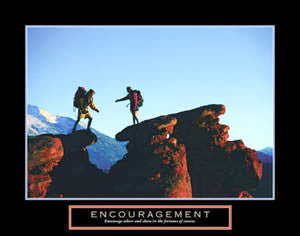 "Rock Climbing ""Encouragement"" Motivational Poster - Front Line"