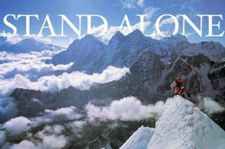 "Mountain Climbing ""Stand Alone"" Inspirational Poster - Image Source"