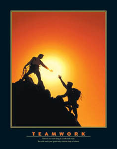 "Rock Climbing ""Teamwork"" Motivational Poster - Eurographics"