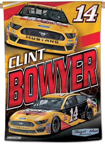 Clint Bowyer NASCAR Rush Truck Centers #14 Premium Collector's WALL BANNER - Wincraft Inc.