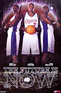 "L.A. Clippers ""The Future is Now"" NBA Action Poster (Miles, Odom, Brand) - Starline 2001"