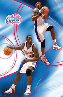 "L.A. Clippers ""Perfect Pair"" (Corey Magette, Elton Brand) Poster - Costacos 2007"
