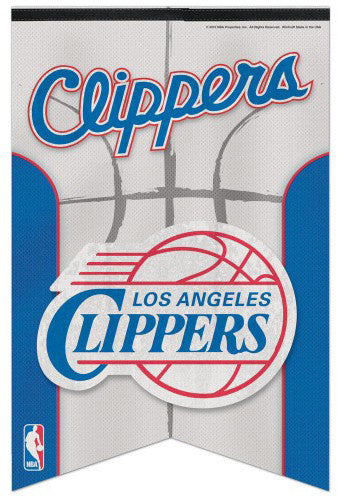 Los Angeles Clippers Official NBA Basketball Team Logo Premium Felt Banner - Wincraft Inc.