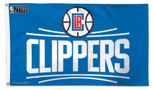 Los Angeles Clippers Official NBA Basketball DELUXE 3' x 5' Flag (Blue) - Wincraft Inc.