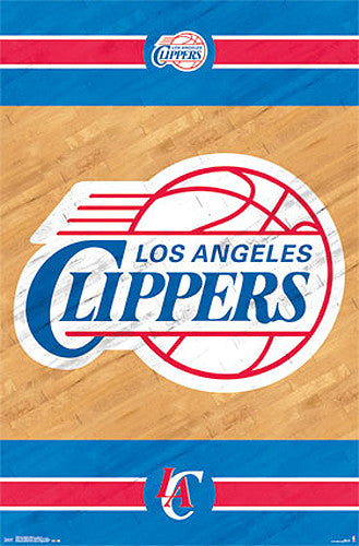 Los Angeles Clippers Official NBA Team Logo Poster - Costacos Sports