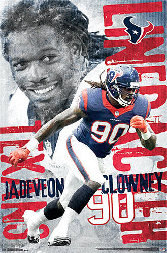 "Jadeveon Clowney ""Superstar"" Houston Texans NFL Poster - Trends International"