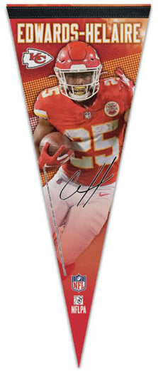 Clyde Edwards-Helaire Kansas City Chiefs Signature Series Premium Felt Collector's PENNANT - Wincraft Inc.