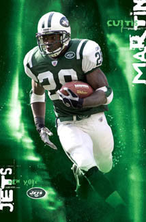 "Curtis Martin ""Green Grinder"" New York Jets Poster - Costacos 2005"