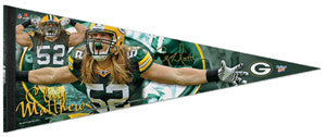 "Clay Matthews ""Claymaker"" 2011 Signature Series Premium LE Pennant - Wincraft"