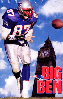 "Ben Coates ""Big Ben"" New England Patriots Poster - Costacos Brothers 1995"