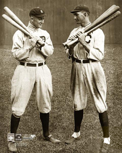 "Ty Cobb & Shoeless Joe Jackson ""Talkin Shop"" (1913) Premium Poster - Photofile Inc."