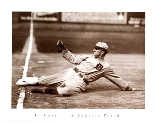 "Ty Cobb ""The Georgia Peach"" (c.1918) Detroit Tigers Premium Poster - NYGS"