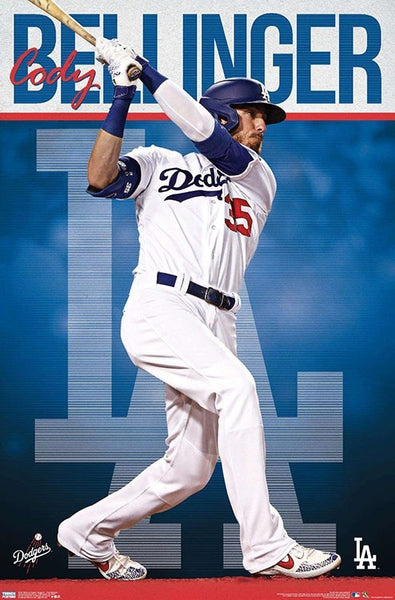"Cody Bellinger ""LA Blast"" Los Angeles Dodgers MLB Baseball Action Poster - Trends 2020"