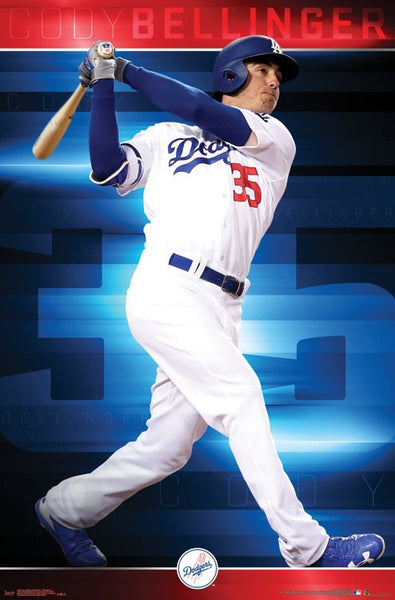 "Cody Bellinger ""Gone Deep"" Los Angeles Dodgers MLB Action Poster - Trends 2017"