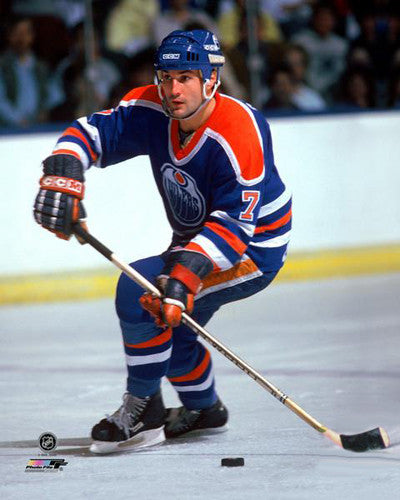 "Paul Coffey ""Super Defender"" (c.1985) Edmonton Oilers Hockey Premium Poster Print - Photofile Inc."
