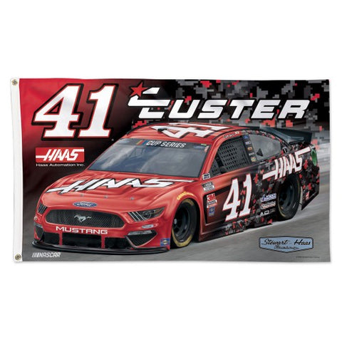 Cole Custer Haas Mustang #41 Official NASCAR Deluxe-Edition 3'x5' Banner Flag - Wincraft 2020