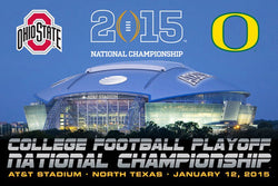 College Football Playoff National Championship Game 2015 Official Poster (Oregon vs Ohio State)