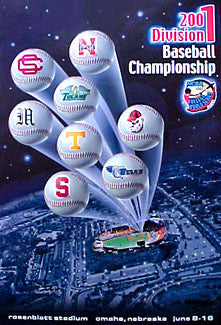 NCAA Baseball College World Series 2001 Official Poster - Action Images