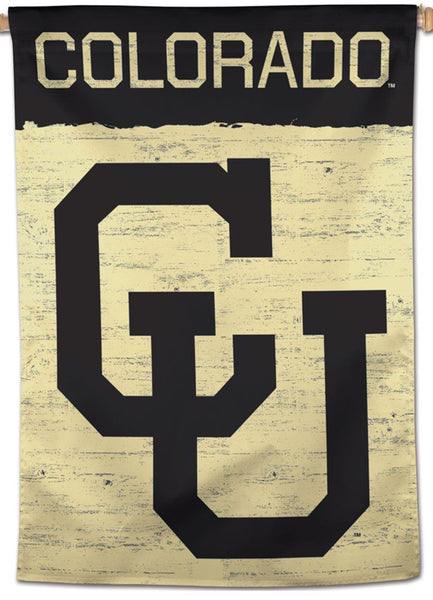 University of Colorado Buffaloes Retro-CU-Style Official NCAA Premium 28x40 Wall Banner - Wincraft Inc.