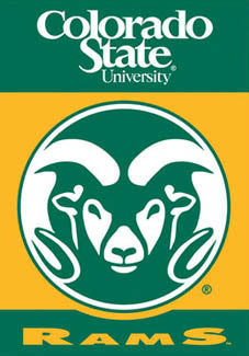 "Colorado State ""Cam the Ram"" Premium NCAA Team House Banner Flag - BSI Products"