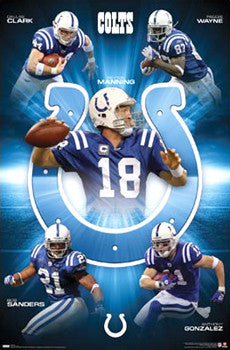 "Indianapolis Colts ""Fantastic Five"" (2009) - Costacos Sports"
