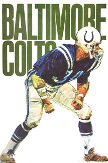 Baltimore Colts NFL Collectors Series Theme Art Vintage Original Poster (1968)