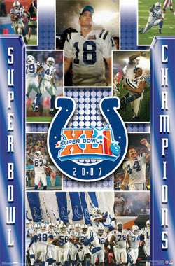 "Indianapolis Colts Super Bowl XLI ""Celebration"" Commemorative Poster - Costacos 2007"