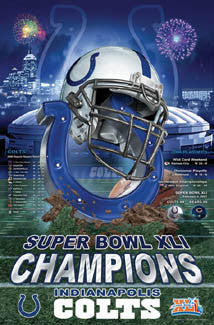 "Indianapolis Colts ""Glory"" (Super Bowl XLI Champions) Poster - Action Images 2007"