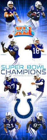 "Indianapolis Colts ""Big-Time Champs"" (Door-Sized) - Costacos"