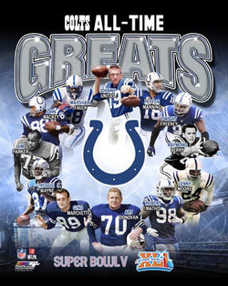 Indianapolis Baltimore Colts Football All-Time Greats (12 Legends) Premium Poster Print - Photofile