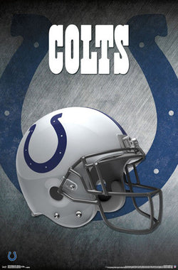 Indianapolis Colts Official NFL Football Team Helmet Logo Poster - Trends International