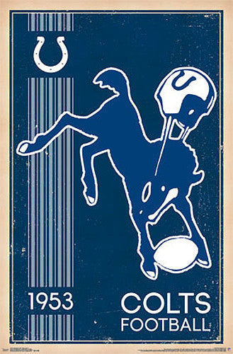 Baltimore Colts NFL Heritage Series Retro Logo c.1953 Official Team Poster - Costacos Sports
