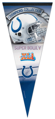 Baltimore/Indianapolis Colts 2-Time Super Bowl Champions EXTRA-LARGE Premium Pennant