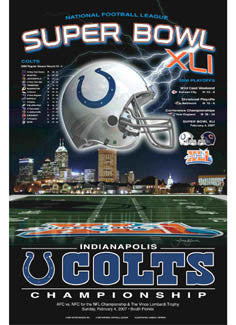 "Indianapolis Colts ""Super Season XLI"" AFC Championship Poster - Action Images 2007"