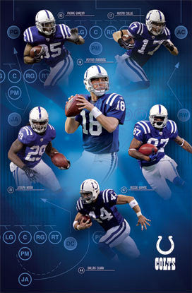 "Indianapolis Colts ""Playmakers"" NFL Football Action Poster - Costacos 2010"