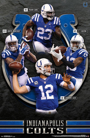 "Indianapolis Colts ""Superstars 2016"" 4-Player NFL Action Poster - Trends International"