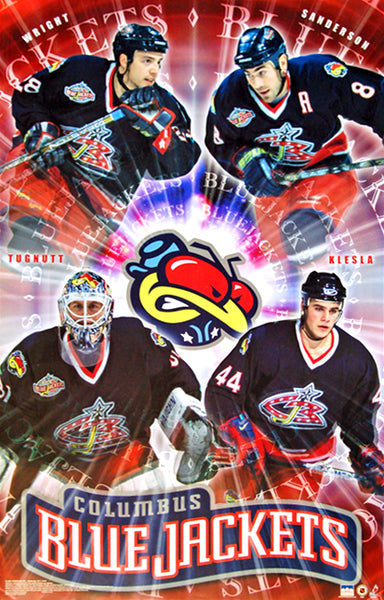Columbus Blue Jackets Inaugural Season Superstars Poster (2000-01) - Starline Inc.