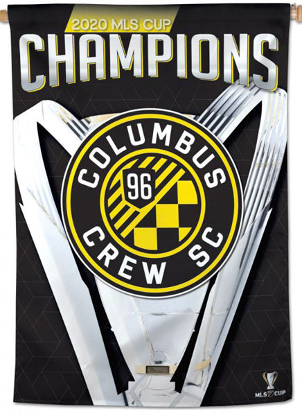Columbus Crew SC 2020 MLS Champions Official Commemorative Wall BANNER - Wincraft Inc.