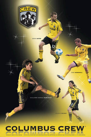 "Columbus Crew ""Superstars 2007"" MLS Soccer Action Poster - S.E."