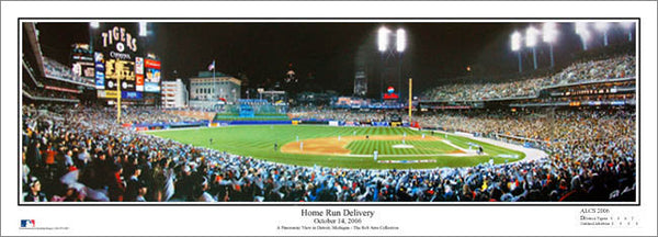 "Comerica Park ""Home Run Delivery"" (2006 ALCS) Panoramic Poster - Everlasting Images"